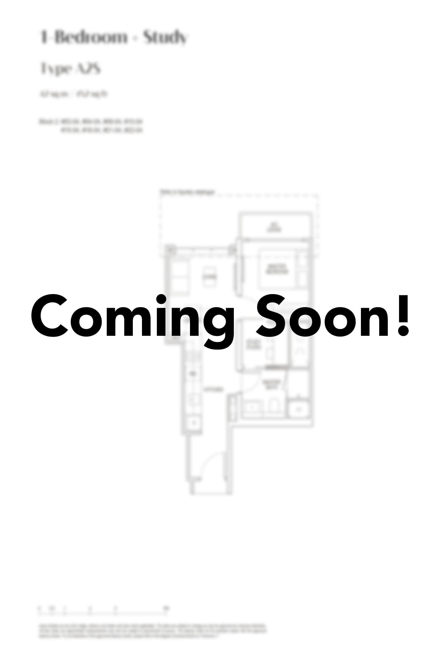 pasir ris 8 Floor Plan 1 Bedroom study A2S