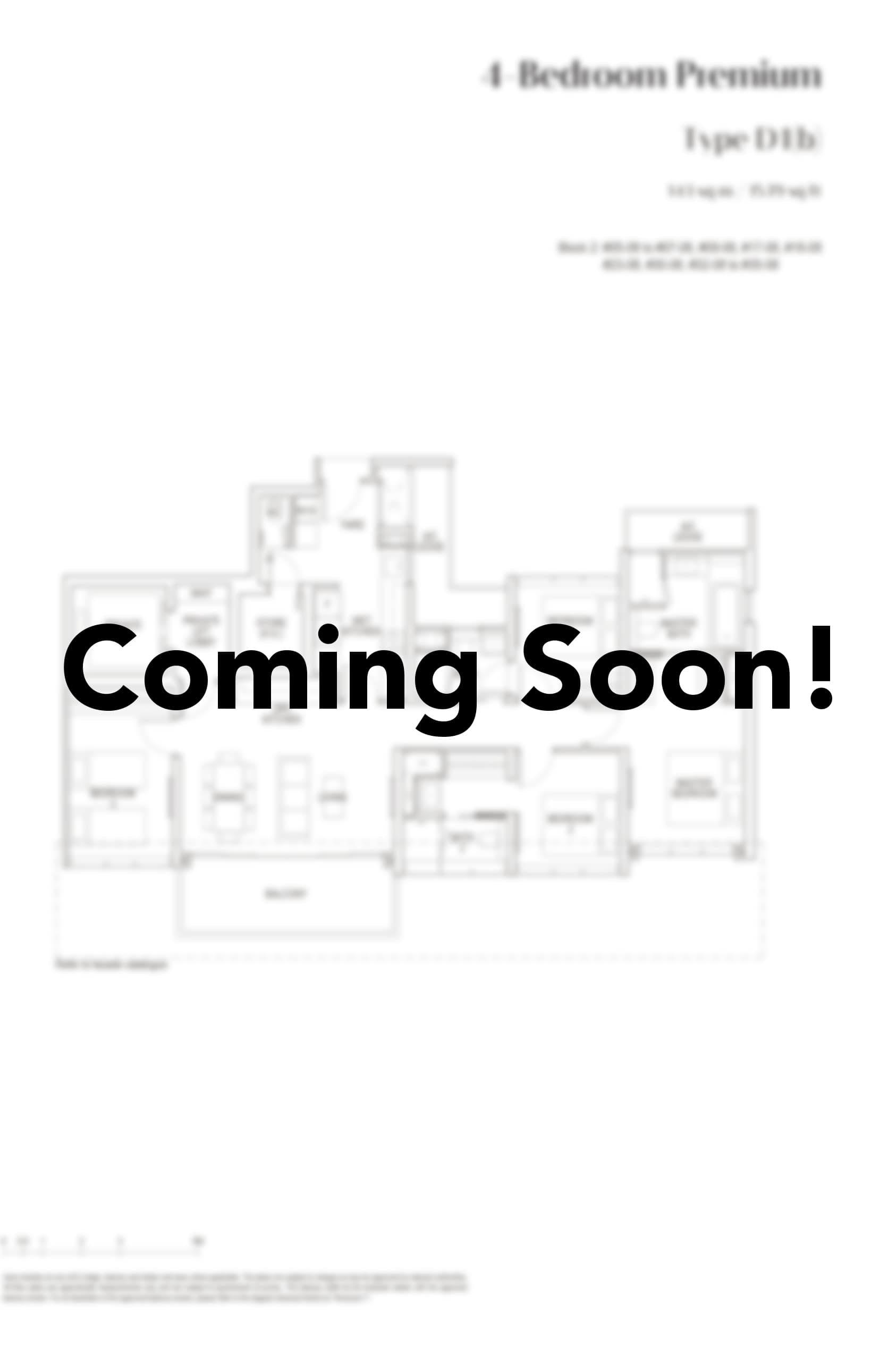 pasir ris 8 Floor Plan 4 Bedroom premium D1b