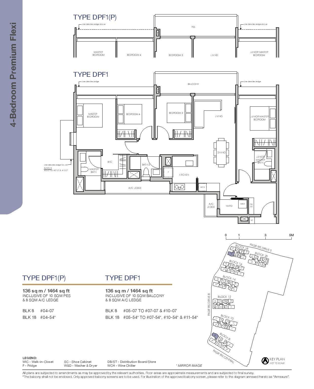 Pasir Ris 8 Floor plans 4 Bedroom 1