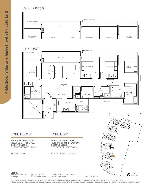 Pasir Ris 8 Floor plans 4 Bedroom 3