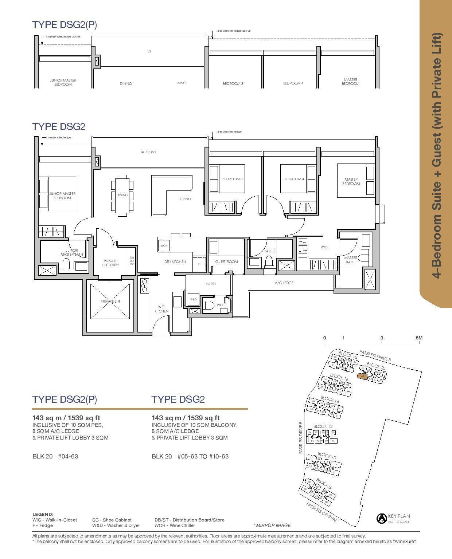 Pasir Ris 8 Floor plans 4 Bedroom 4