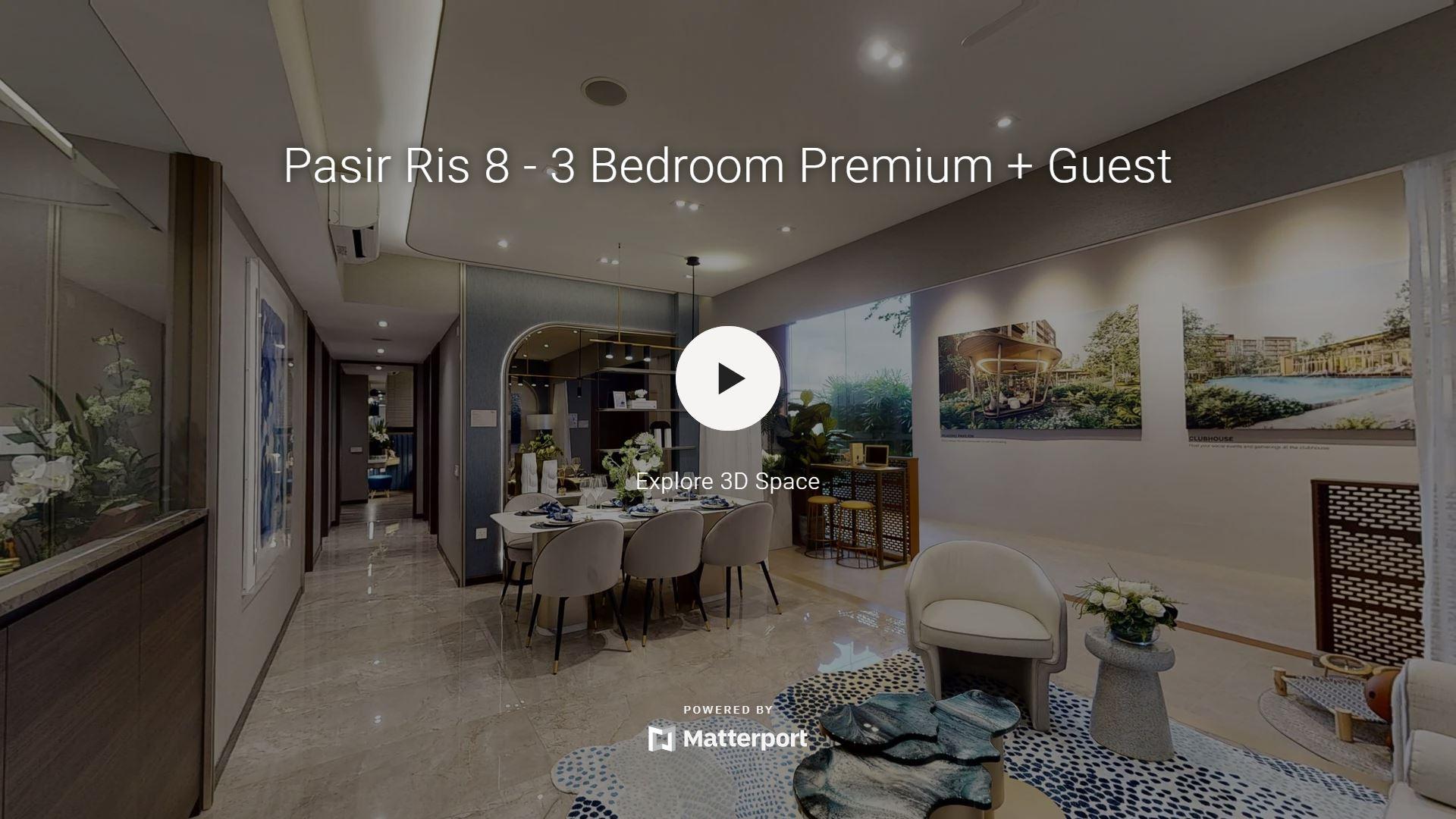 Pasir Ris 8 Showflat Virtual Links for 3 Bedroom Premium Guest